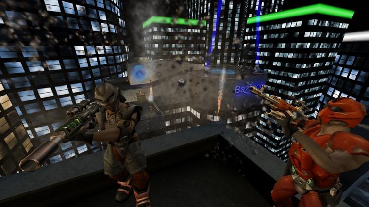 Gore-киборги-снайперы на крыше