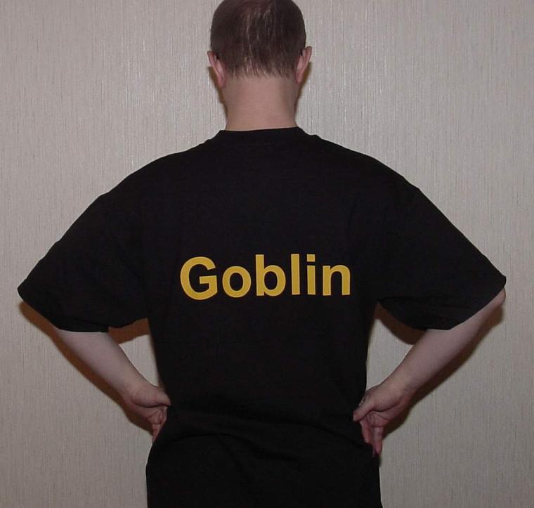 Мега-футболка, вид сзади