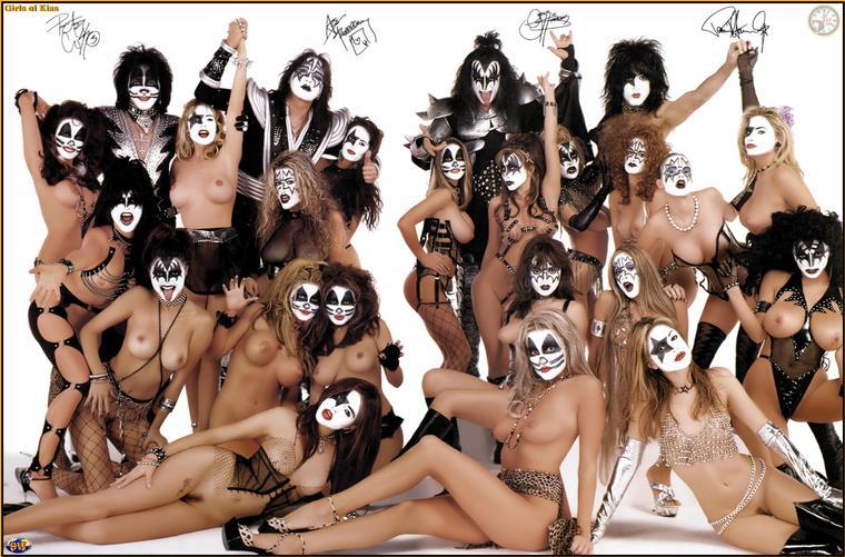 Группа KISS на отдыхе