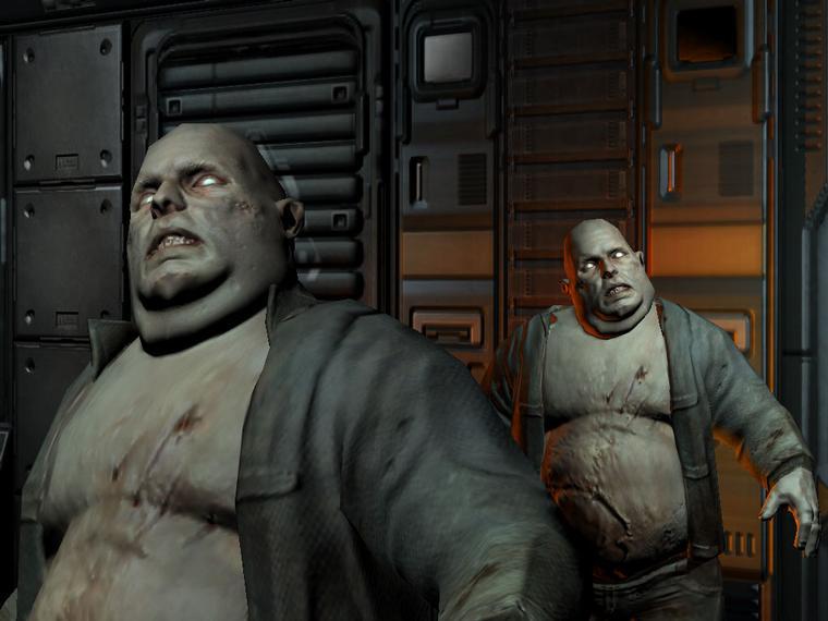 DOOM III: жирные зомбари