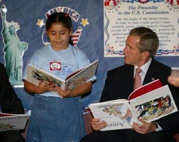 Буш и книга