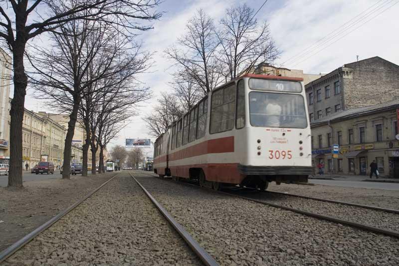 Лиговский проспект и трамвай