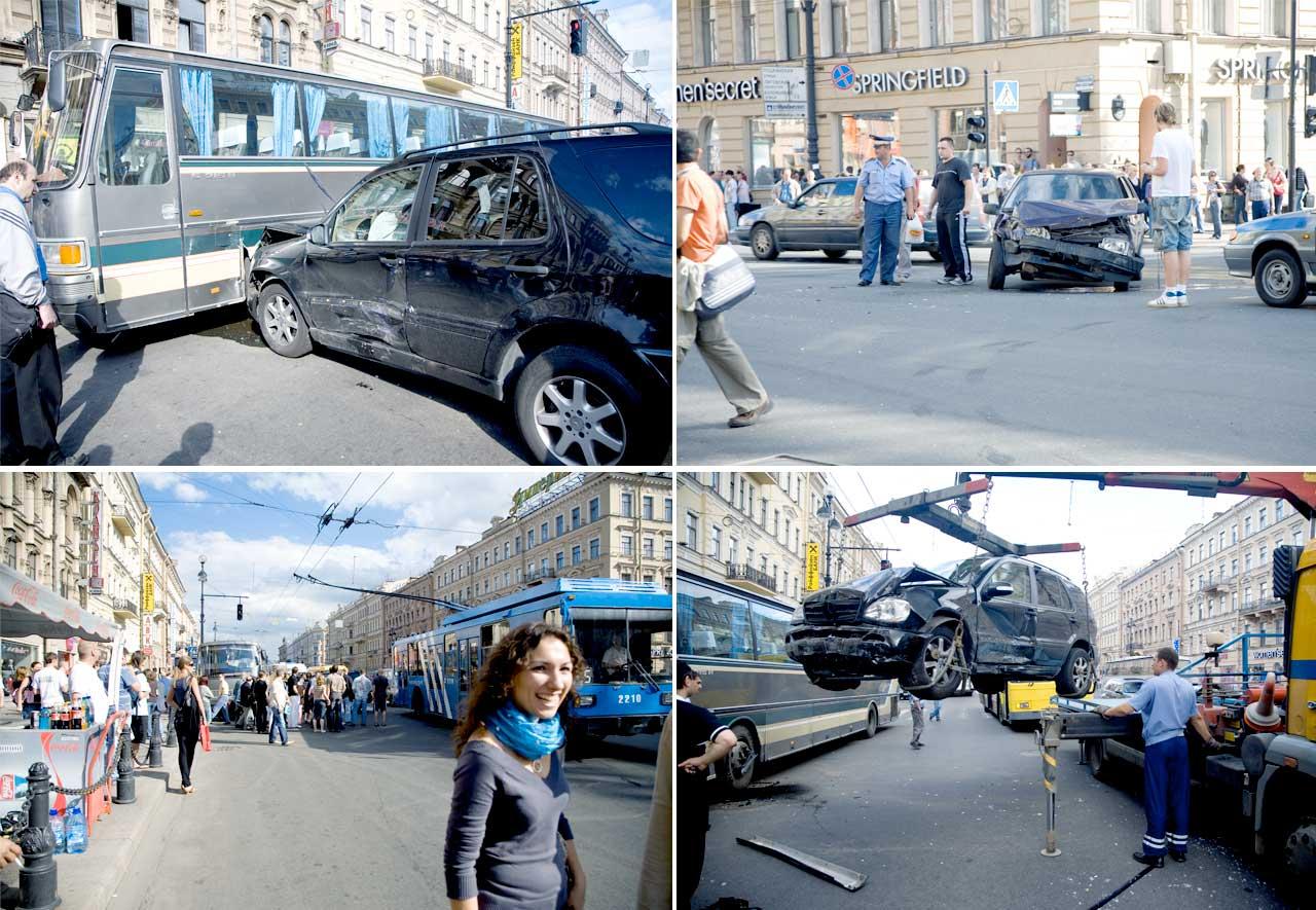 Авария на углу Марата и Невского