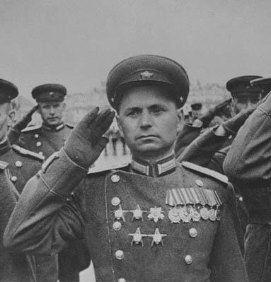 Офицер войск НКВД, Красная Площадь, 1945год.