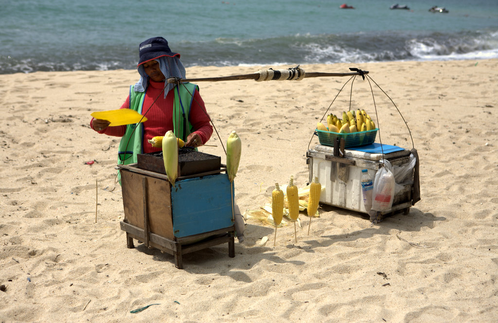 Зажарка тайской кукурузы