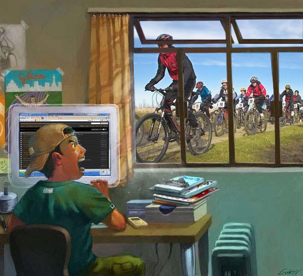 Велосипедисты приехали