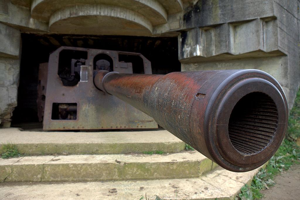 Фашистская пушка на Омаха-бич