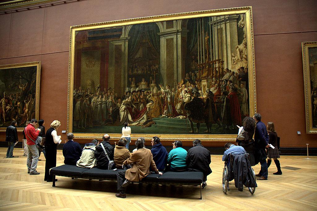 Картина про коронацию Наполеона в Лувре