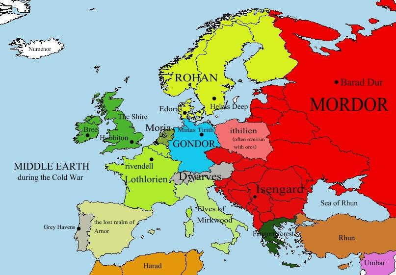 Истинная карта Европы