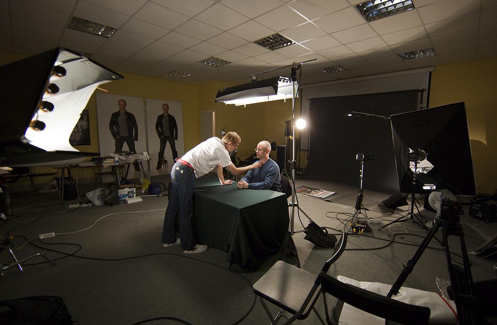 Подготовка к съёмке Синего Фила (с) местный