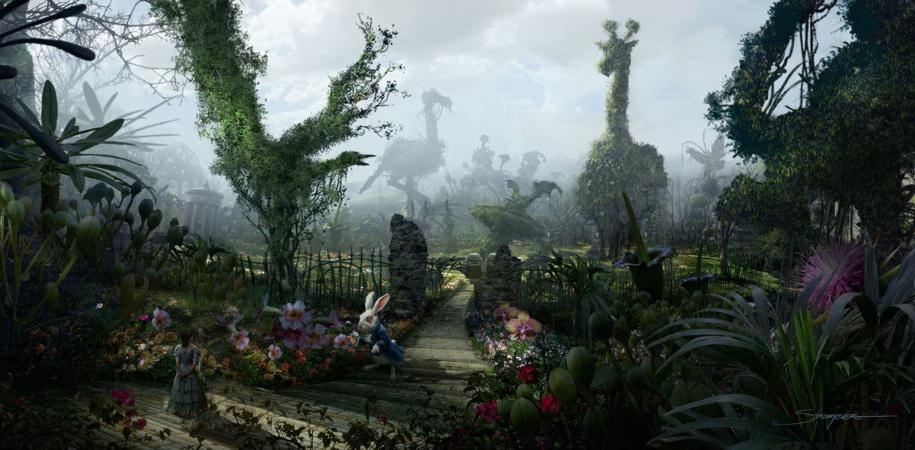 «Алиса в стране чудес» Тима Бёртона — за Белым кроликом