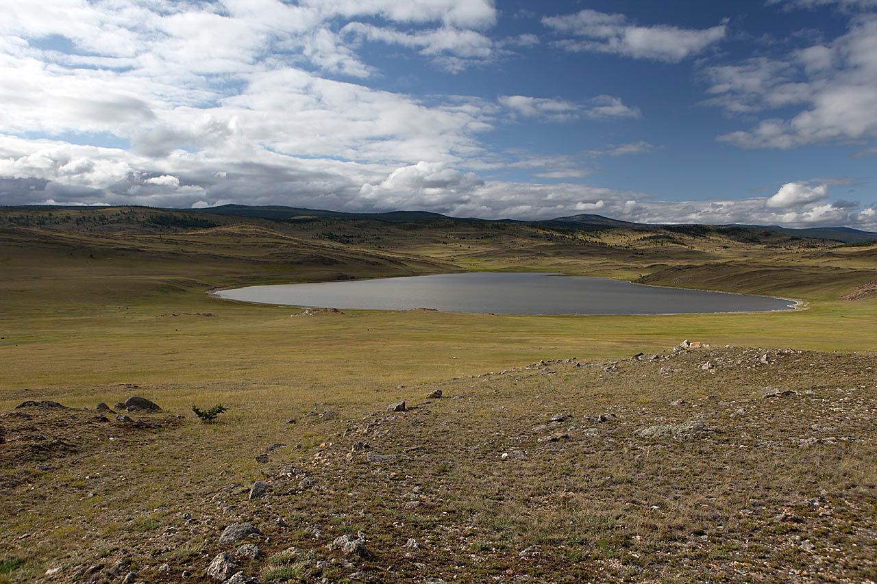 Прибайкальское соляное озерцо в тажеранской степи