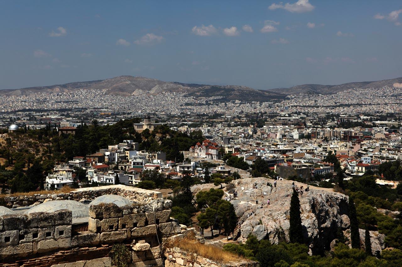 Вид на скалу Ареопага