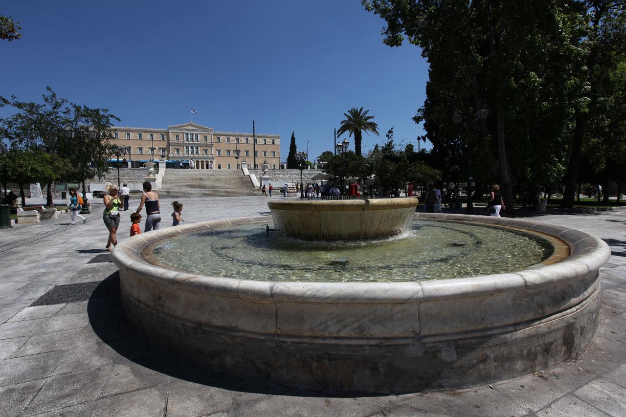 Вид на греческий парламент