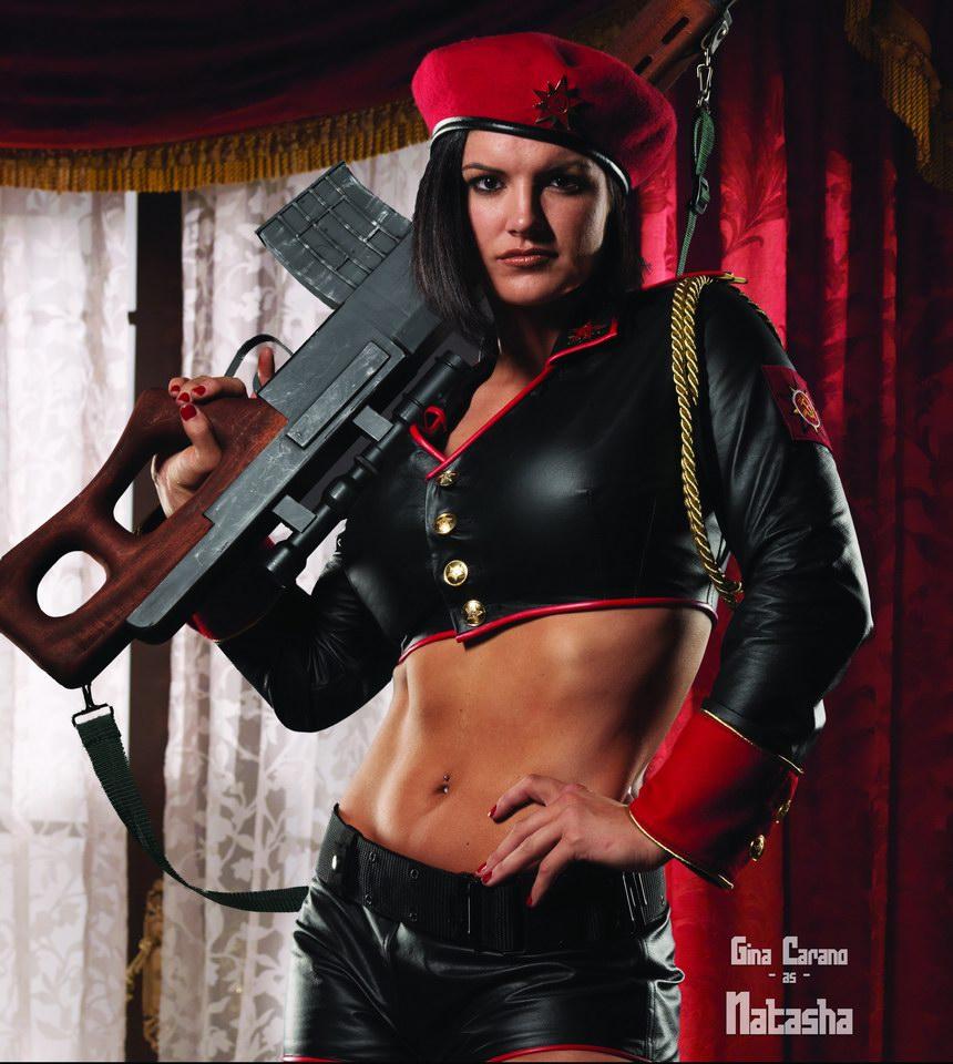 Джина Карано в роли советского снайпера Наташи Волковой