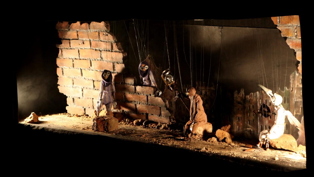 Кукольный спектакль перед премьерой мультика