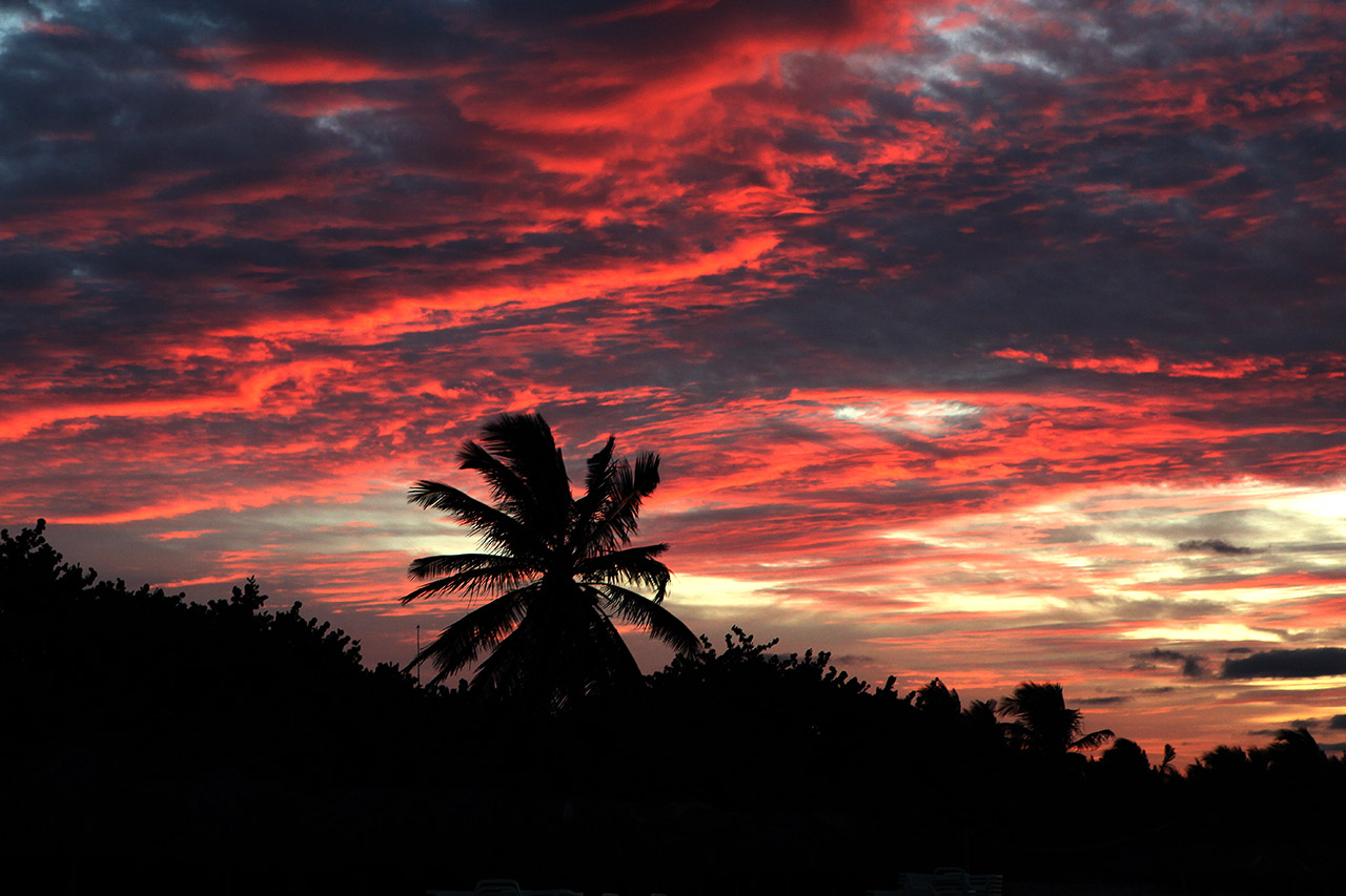 Опять закат на Варадеро