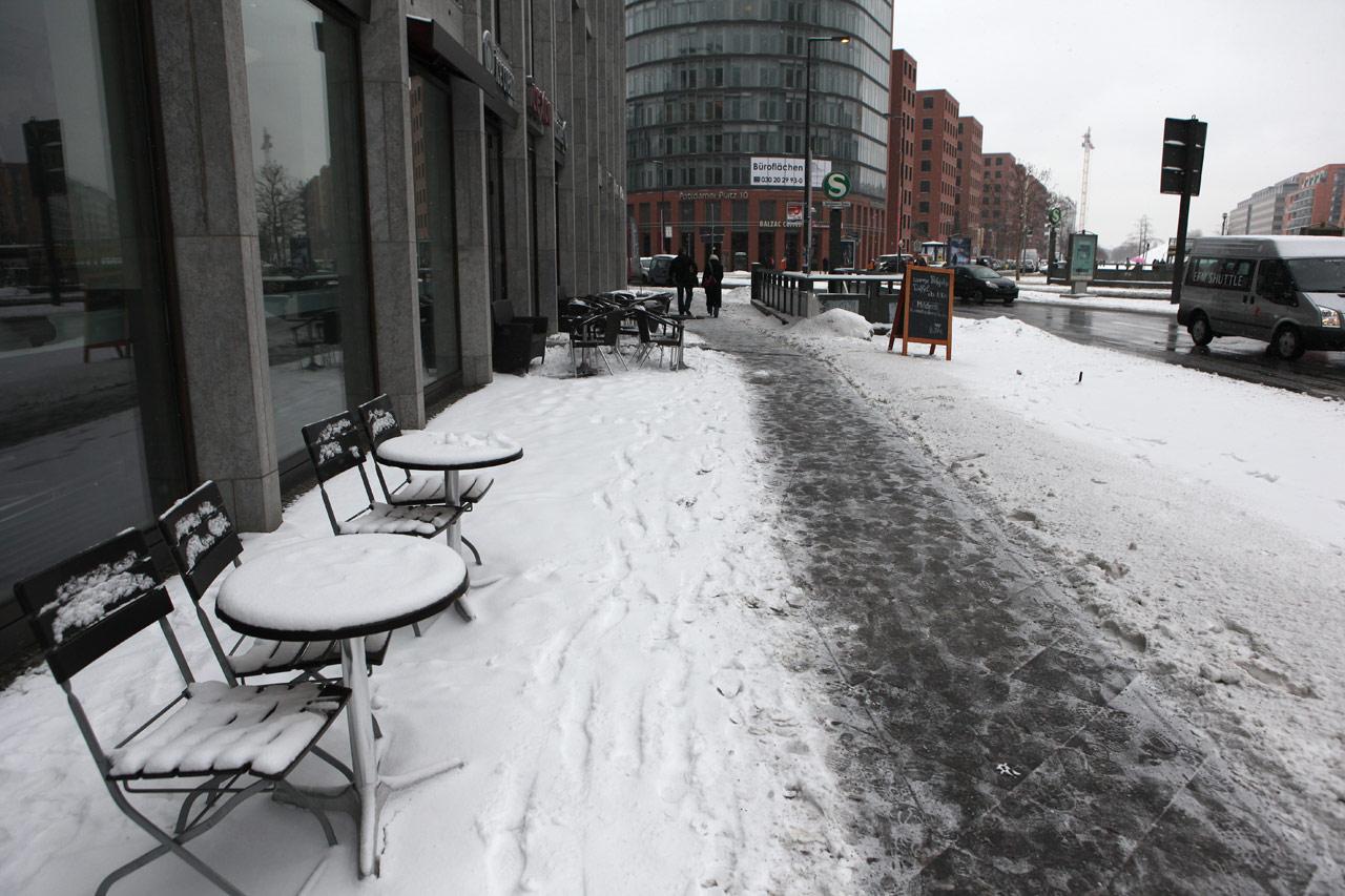 Берлинское кафе зимой