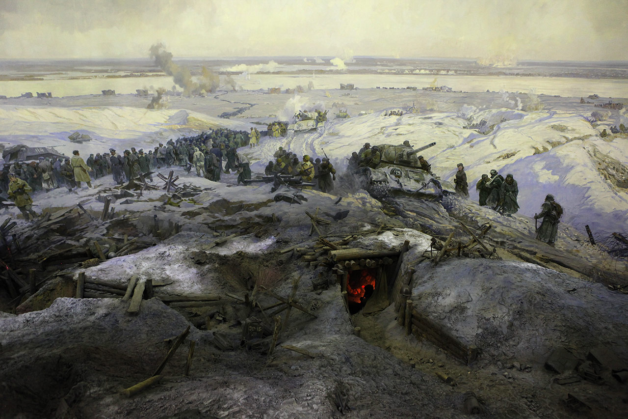 Фрагмент панорамы Сталинградской битвы