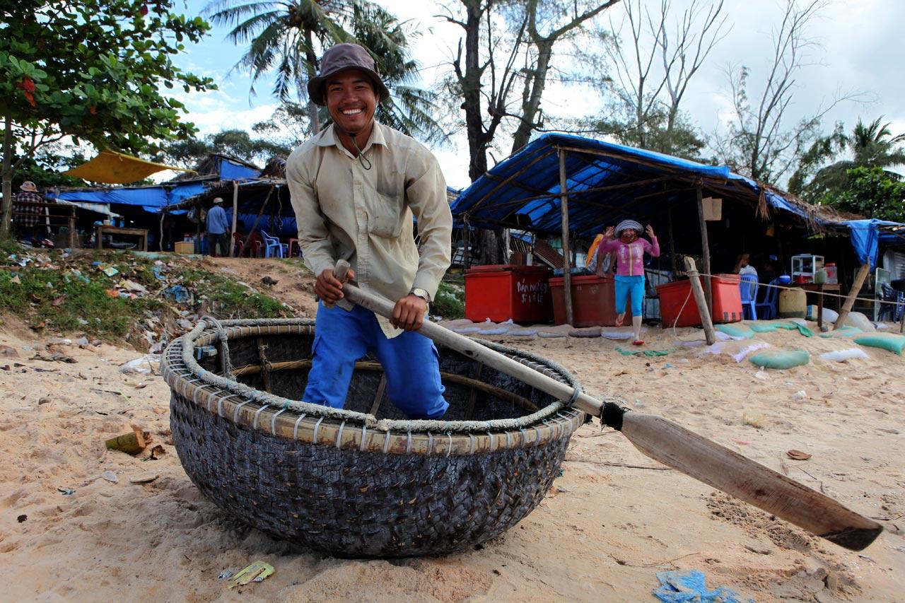 Круглая вьетнамская лодка
