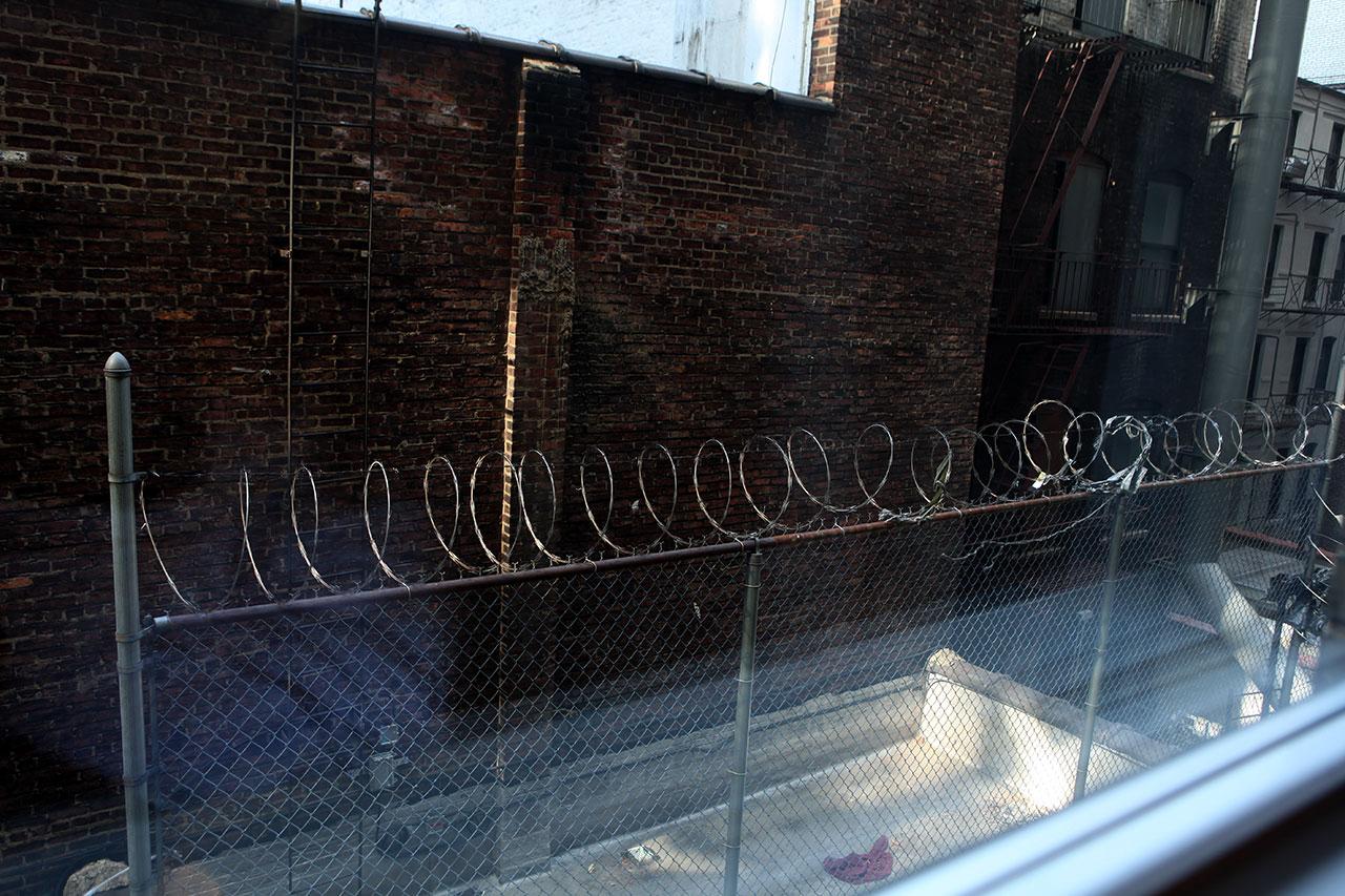 Вид из окна отеля Парамаунт