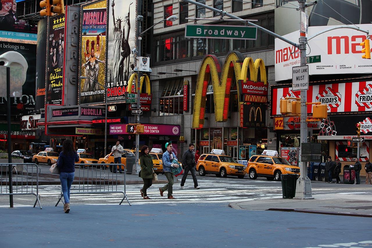 Макдоналдс  на Таймс сквер