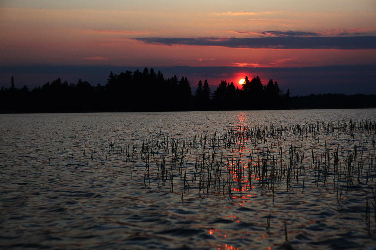 Суровый финский закат