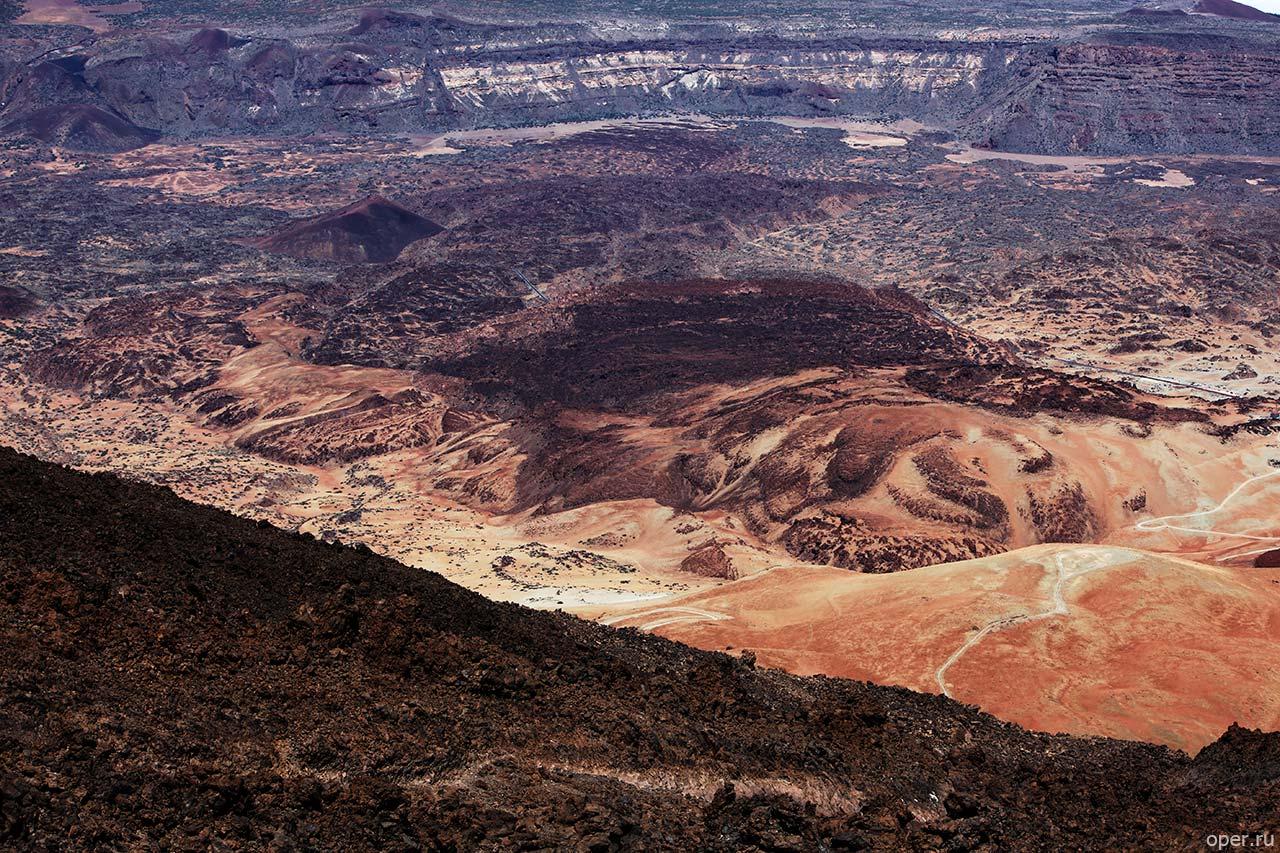 Вид с канарского вулкана