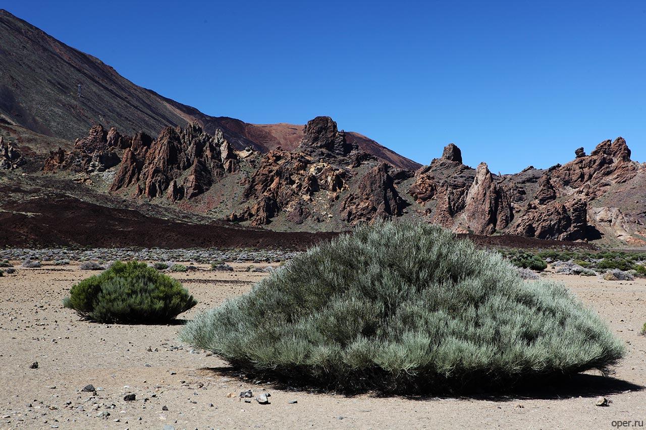 Остатки канарских вулканов