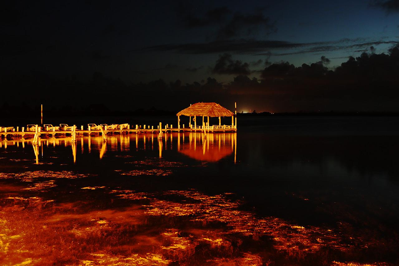 Канкунский домик на закате