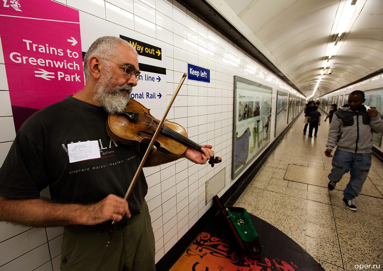 Скрипач в лондонском метро