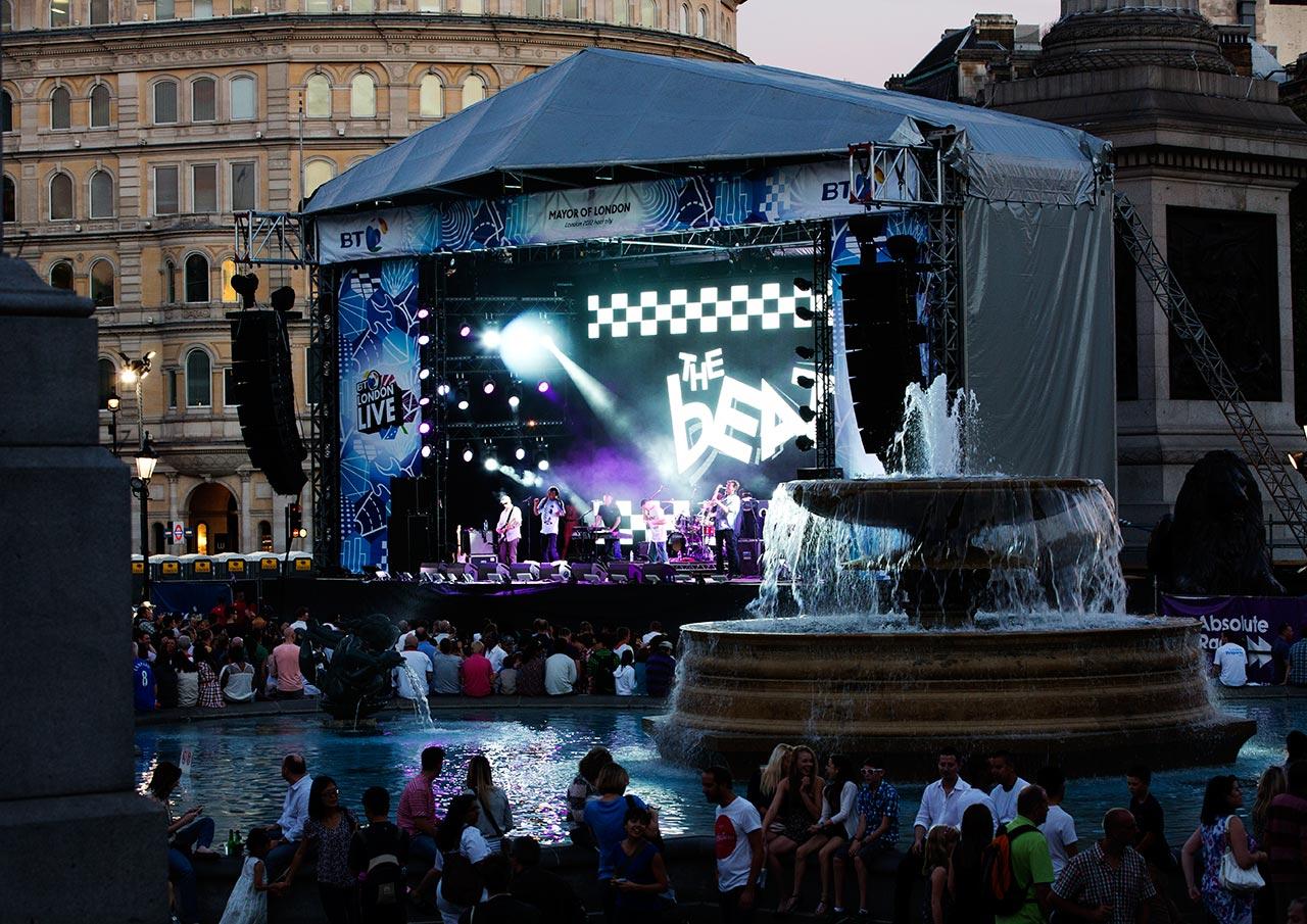 Концерт на Трафальгарской площади