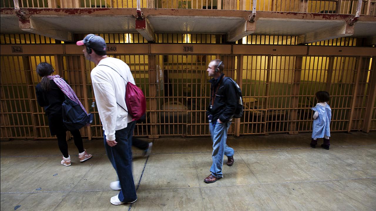 Исторические камеры тюрьмы Алькатрас