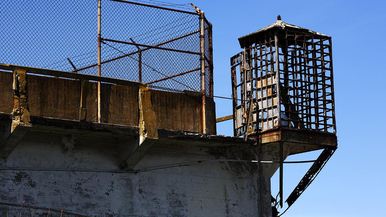 Прогулочный дворик тюрьмы Алькатрас