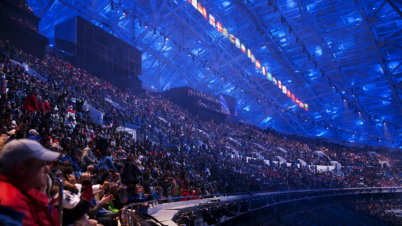 Публика на открытии Олимпиады в Сочи