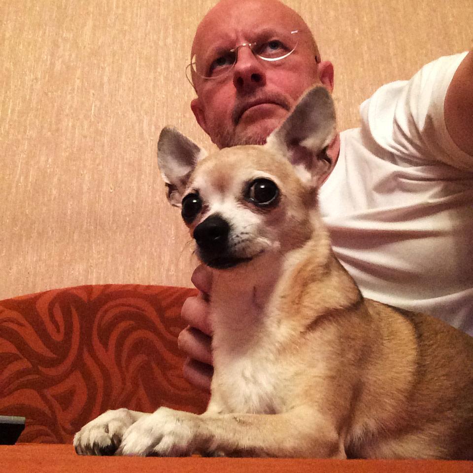 Собака-убийца смотрит фильм Вий