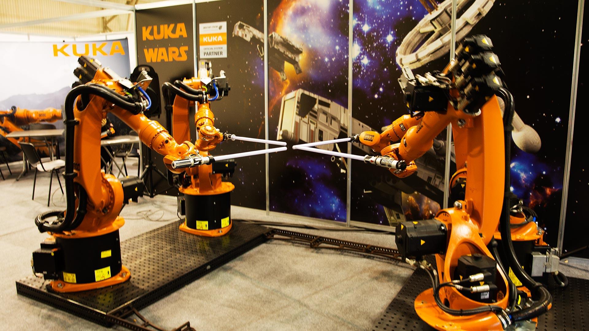 Битва роботов на саблях