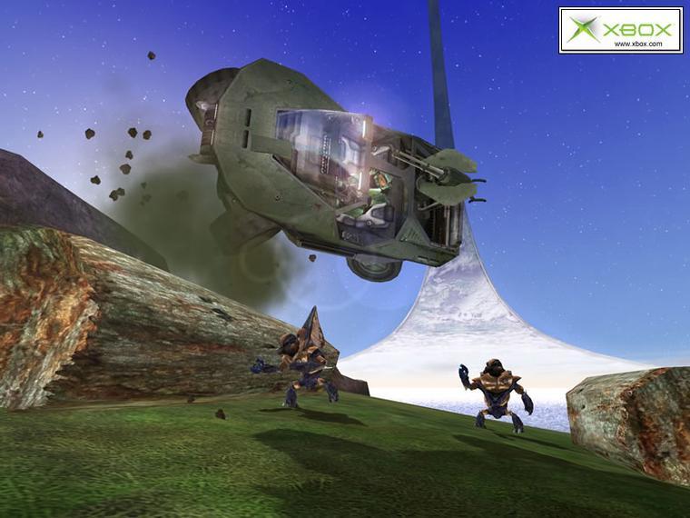 Halo: пролетая над.