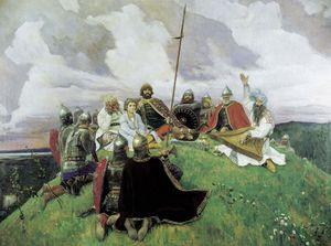 """Васнецов. """"Баян"""". 1910 год."""