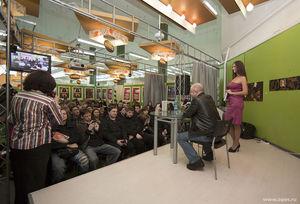 Почтенная публика на презентации книги