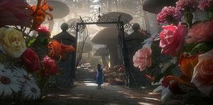 «Алиса в стране чудес» Тима Бёртона — говорящие цветы