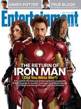 Обложка Entertainment Weekly — персонажи фильма «Железный человек 2»