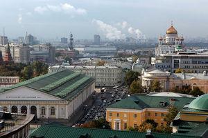 Вид на Москву с крыши Ритц-Карлтона