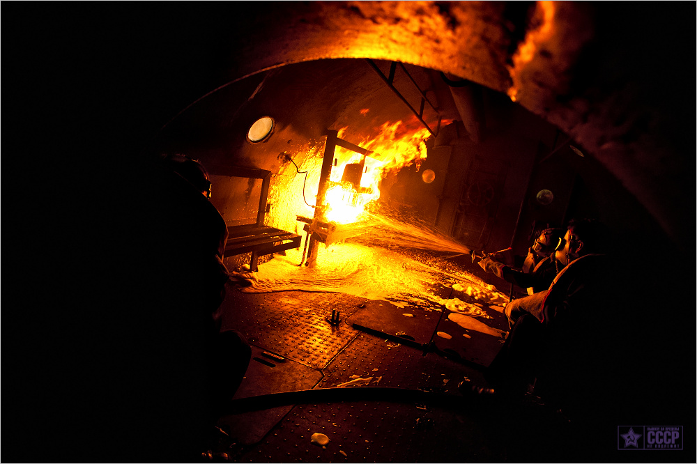 борьба с пожарами на подводных лодках