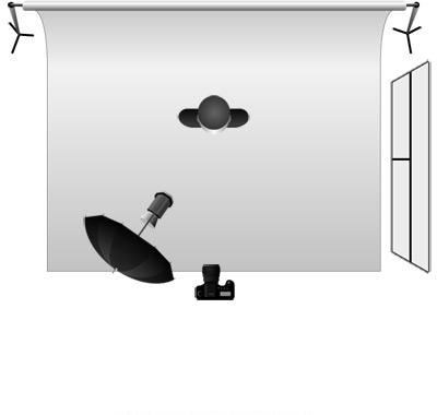 Схема света «под 45°» с одной